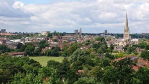 Norwich from Kett's Heights - a highlight of the Shardlake's Norwich tour