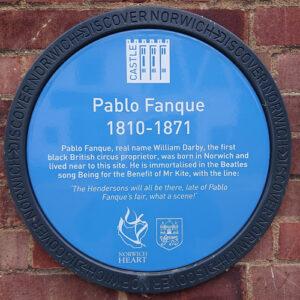 Pablo Fanque plaque