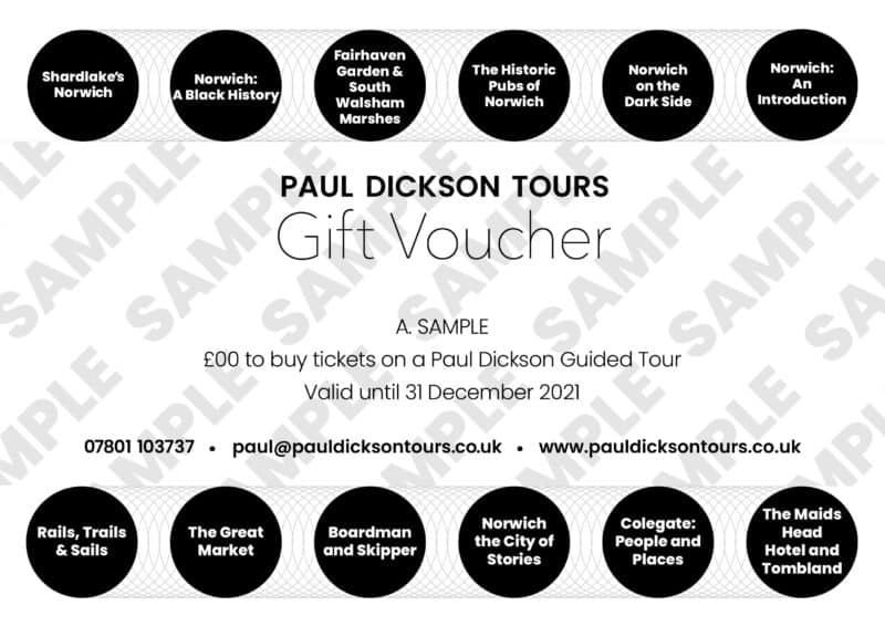 Paul Dickson Tours gift voucher