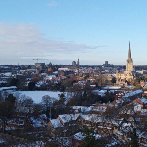 A winter's morning on Kett's Heights